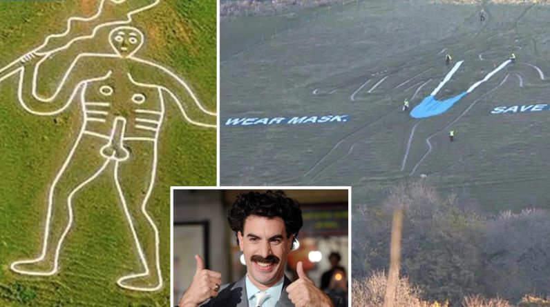 Borat 2 - The character dressed as 'Muskini' gives a hilarious look at Brit signs ahead of the film's release