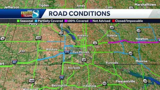 Iowa & & # x20AC; & # x2122;  Road & # x20;  conditions
