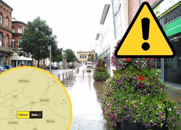 Alex Storm: Heavy rain forecast for East Lancashire