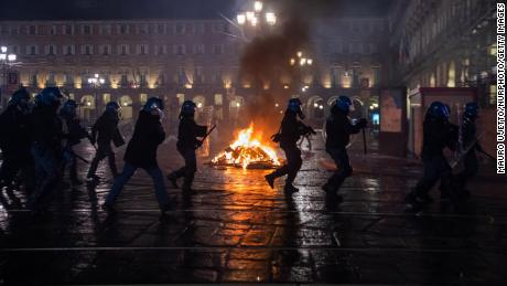 Protesters clash with police in northern Italy as anger mounts over Govt-19 restrictions