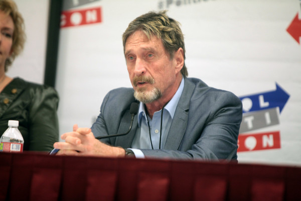 John McAfee arrested after DOJ accuses crypto millionaire of tax evasion - Tech Crunch