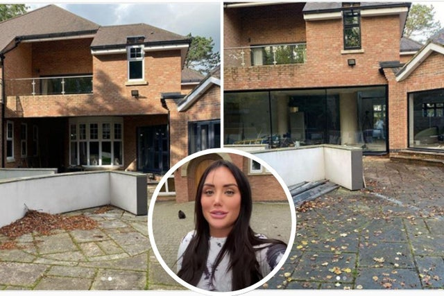 Pictures are shown before and after the major reconstruction of Charlotte Crosby's Houghton Manor.  Images from Cthecrosbymanor Instagram account