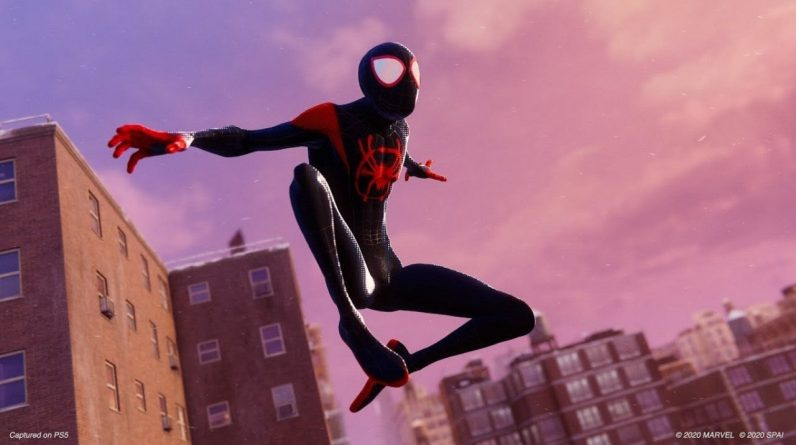 Miles Morales fans celebrate in a spider-verse suit
