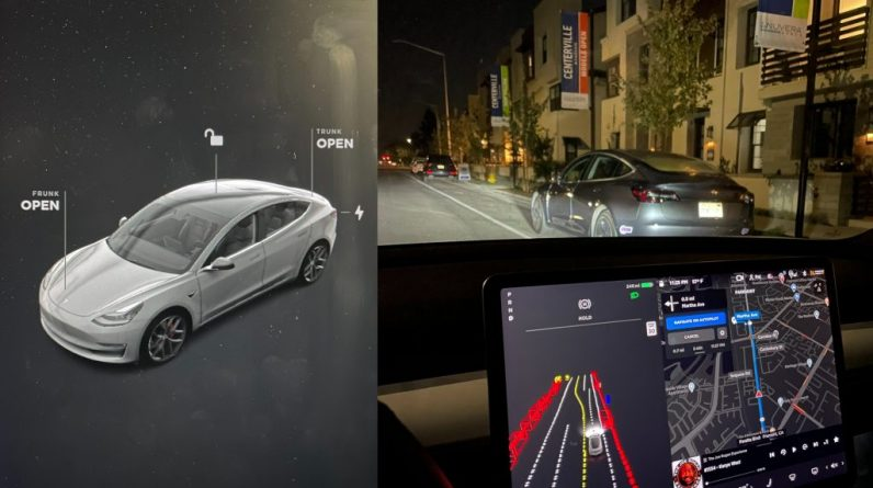 Take a look at the driving visuals for Tesla's new UI and FST beta