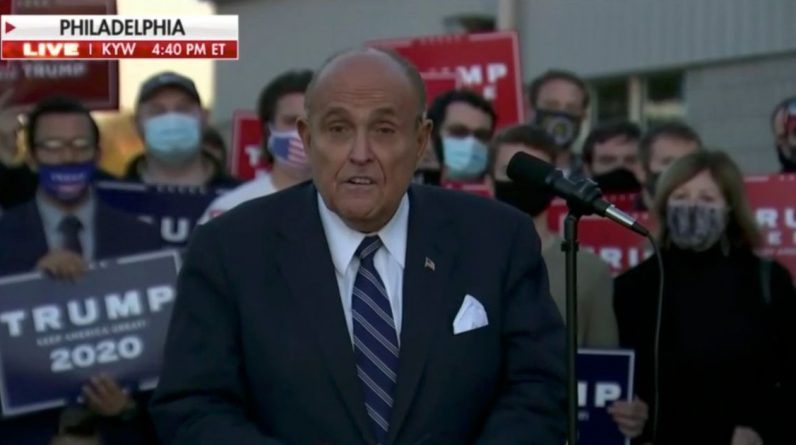 Eric Trump and Rudy Giuliani make bizarre claims of fraud and 'dead' voting in Pennsylvania