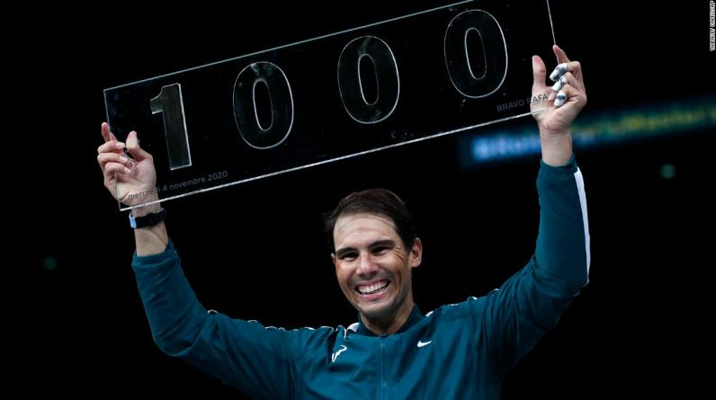 Rafael Nadal becomes the fourth person to win 1,000 ATP Tour tournaments