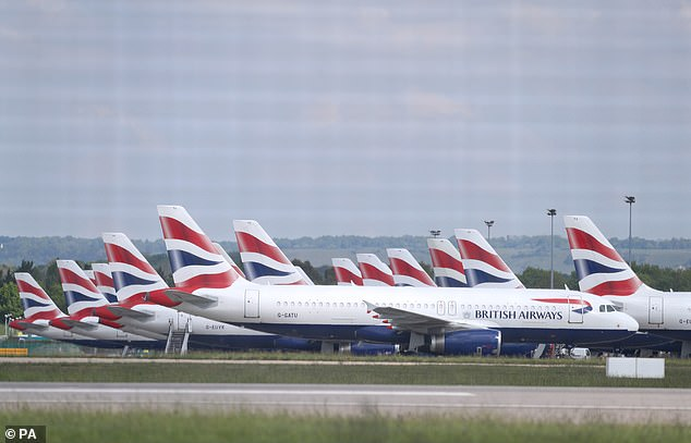 During the first lockdown, a Corona virus outbreak at Gatwick Airport in Sussex in May caused an outbreak of B.A. The jets landed
