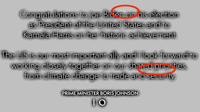Prime Minister Tweet Joe Biden