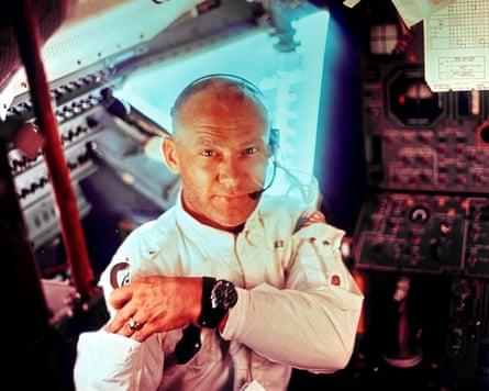 Edwin 'Bus' Aldrin during a lunar landing mission on July 20, 1969.