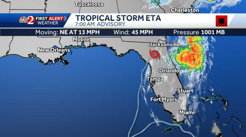 The Etta landslide is the fourth tropical storm to hit Florida