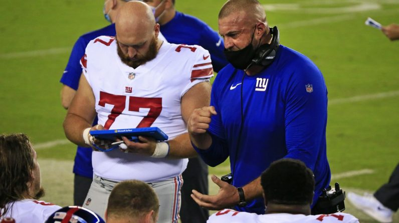New York Giants OL coach Mark shot Colombo