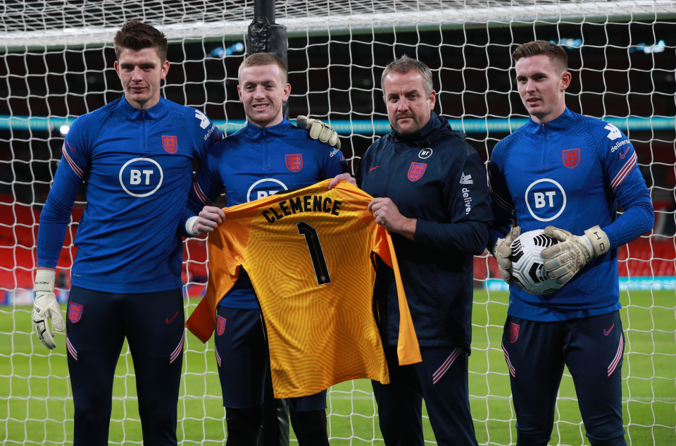 The current England goalkeepers posed with the No. 1 shirt