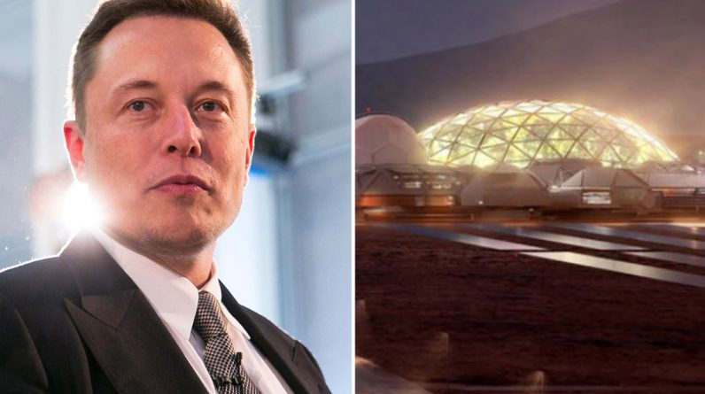 Elon Musk reveals that residents of his 2050 Mars city will live in glass domes - and 'landscape' the planet to look like Earth