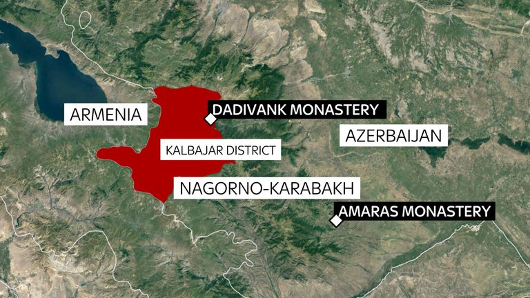 Dadivank Monastery will go into the hands of Azerbaijan on Wednesday