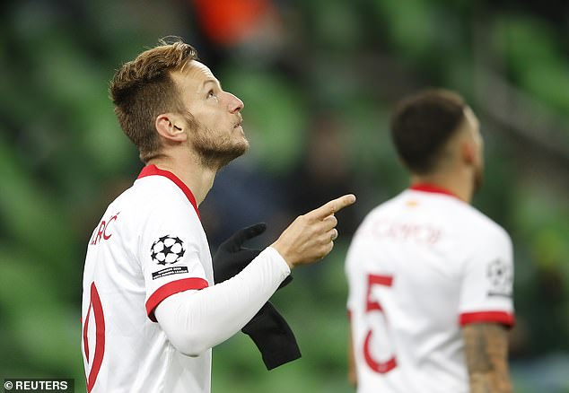 The former Barcelona midfielder put Sevilla ahead four minutes into Tuesday evening