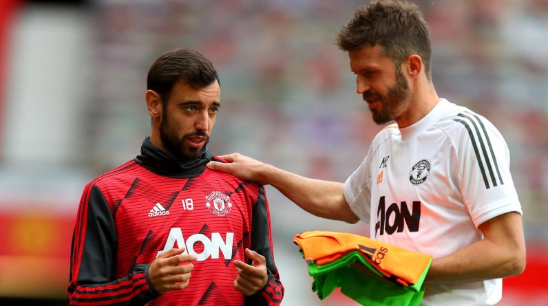 Bruno Fernandez took midfield traces from Michael Carrick