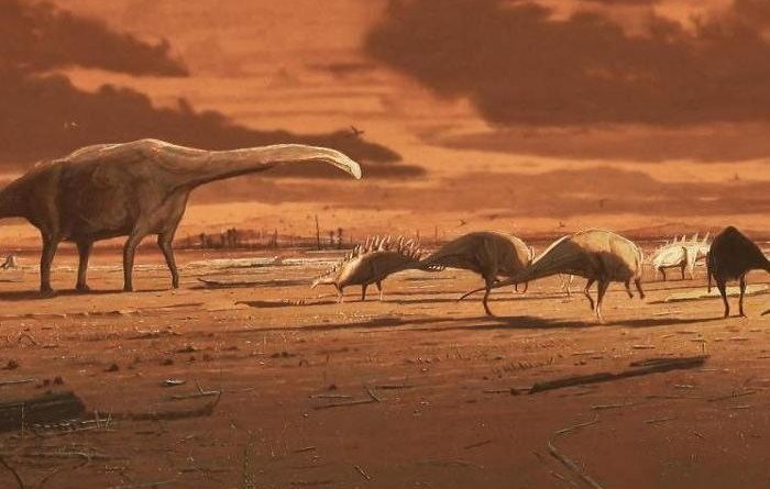 Duck-billed dinosaurs have crossed the sea to get to Africa