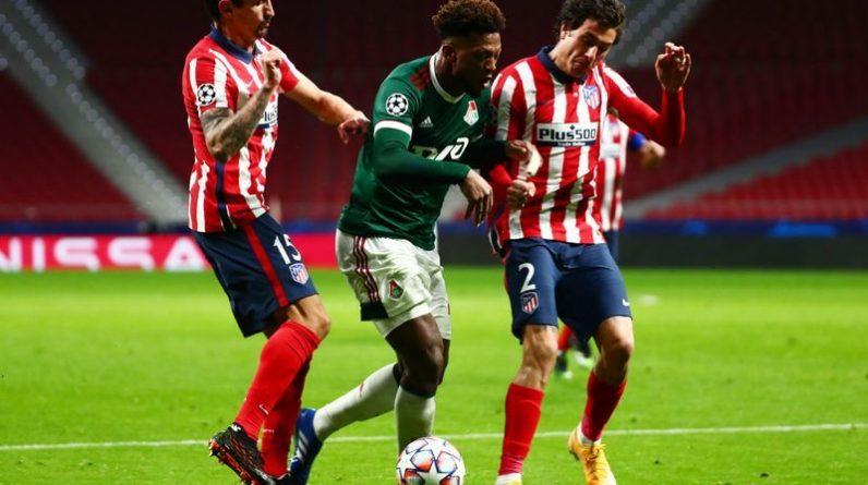 Football: Atletico held a home draw with the locomotive to make them hate it