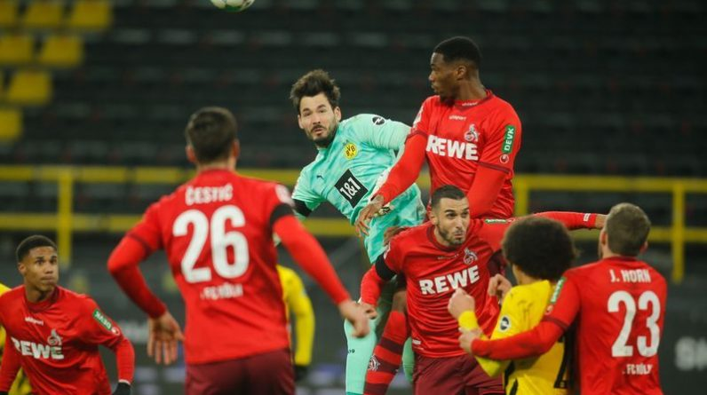 Football: Cologne Stone doubles as Dortmund 2-1