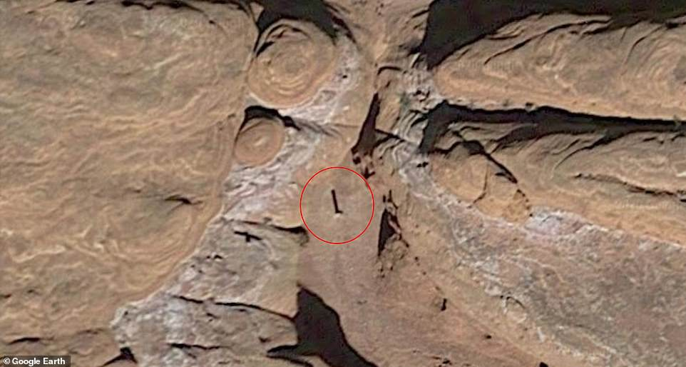 Authorities have refused to disclose the location of the metal square for fear that interested visitors will come to the remote forest, but internet scams have been able to point out its status.  Google Earth images show it has been around since 2016 or 2015