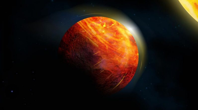 On this Helscape volcanic planet, rain and wind are supersonic