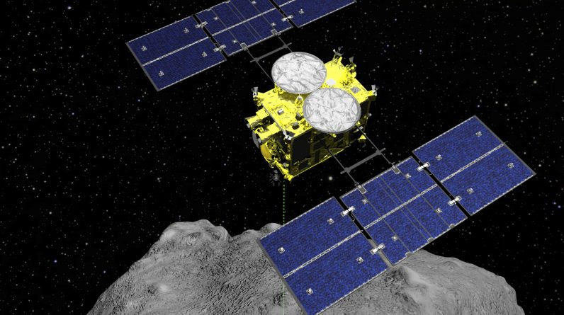 The Japanese spacecraft carrying asteroid soil samples is near home