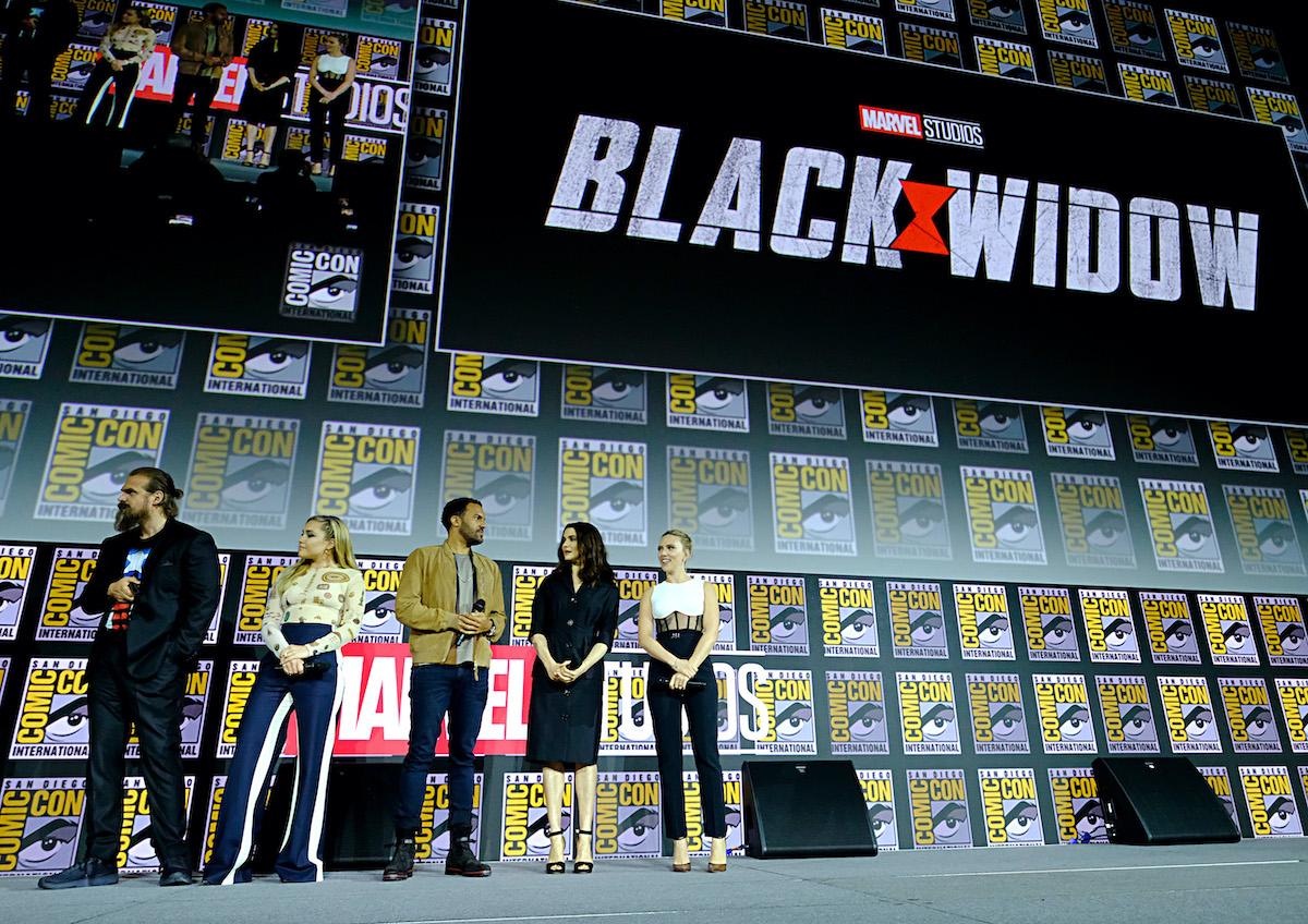 David Harper, Florence Buck, OT Fokbenley, Rachel Weiss and Scarlett Johansson