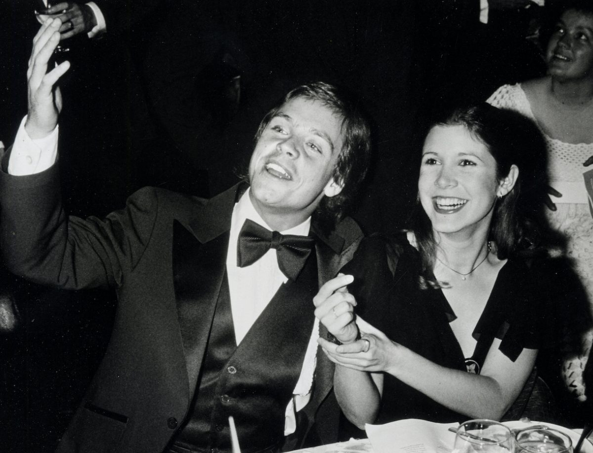 Mark Hamil and Gary Fisher attend the 10th Anniversary Gala of the American Film Institute on November 17, 1977