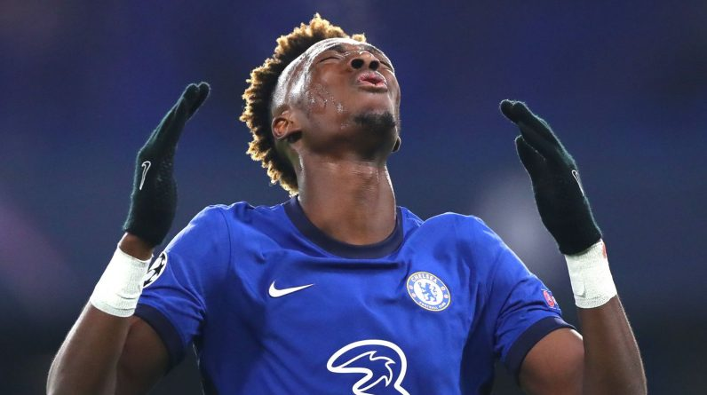 Tammy Abraham reacts to a missed opportunity against Krasnodar