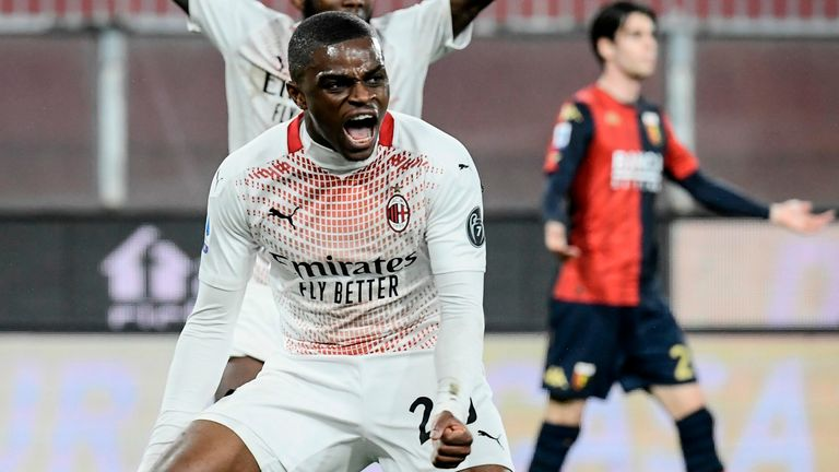 A.C.  Pierre Kalu scored a point for Milan