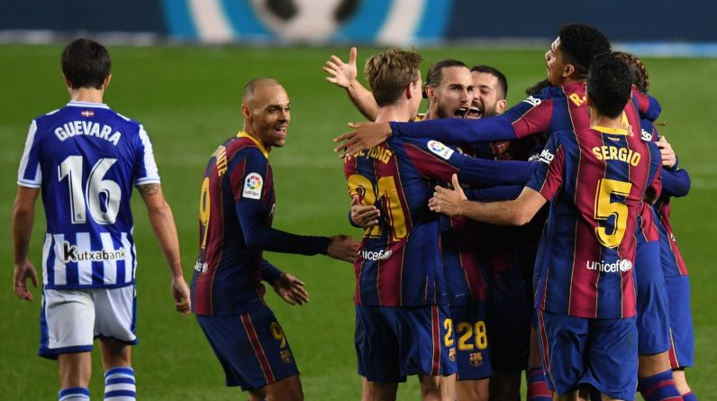 Barcelona came from behind to beat Real Sociedad