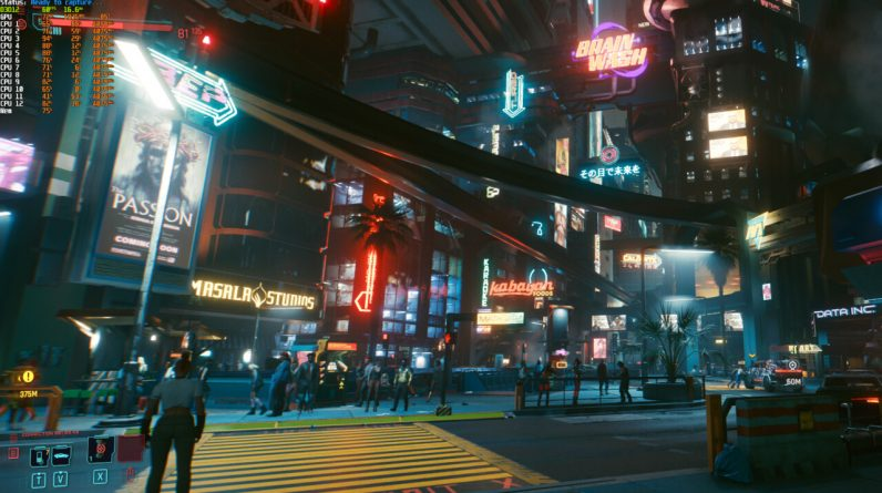 Cyberpunk 2077: Die Community testet GPUs und CPUs in Night City