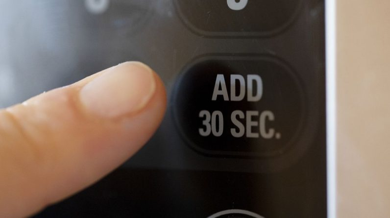 'Add 30 seconds' microwave button allows you to avoid cool digital accuracy