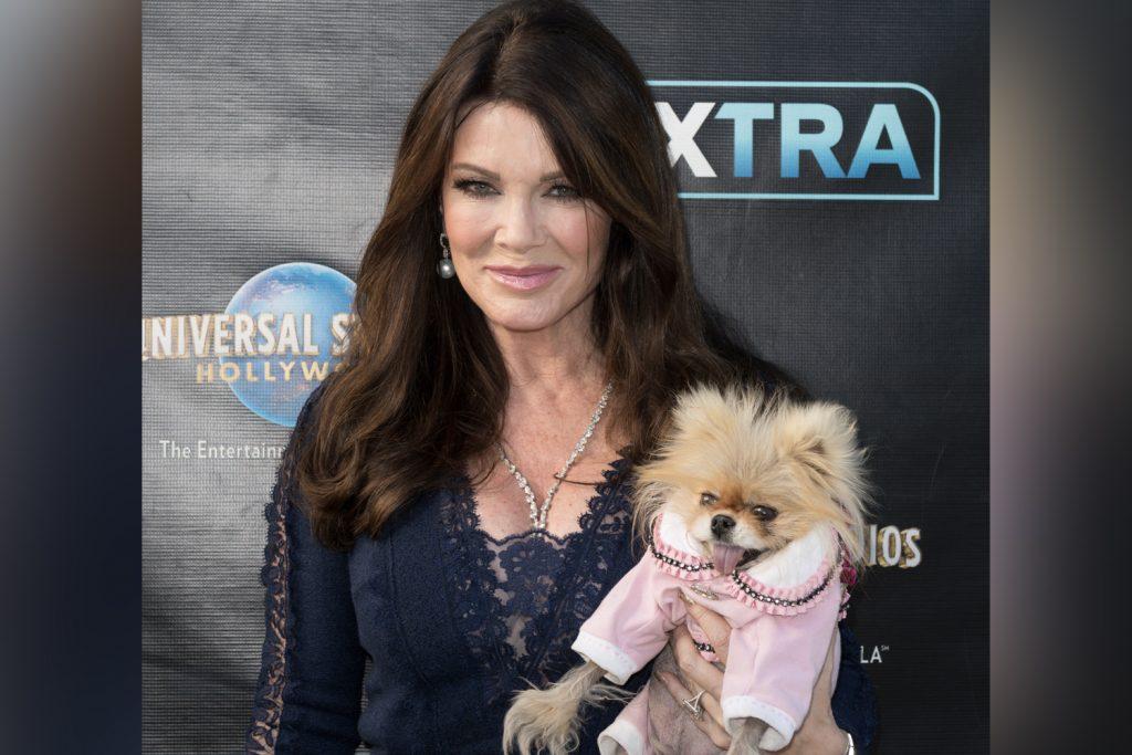 Lisa Wanderpump and her dog Kiki