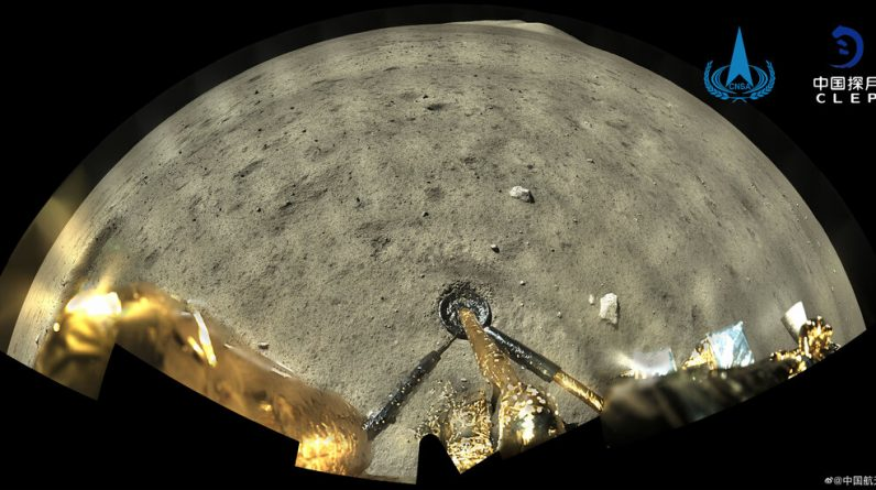 Check out the moon landing of China's Chang-5 spacecraft