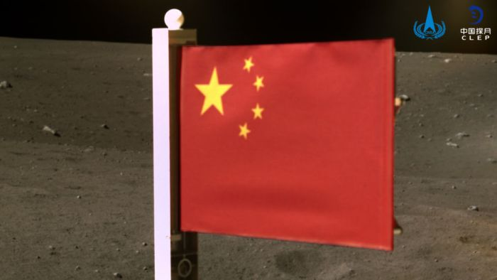 China unfurls flag on moon during Chang 5 mission