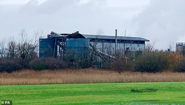 A large explosion (pictured) at a warehouse near Bristol has injured several people, emergency services say