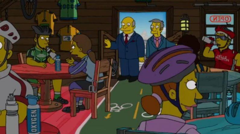 The Simpsons biker bar