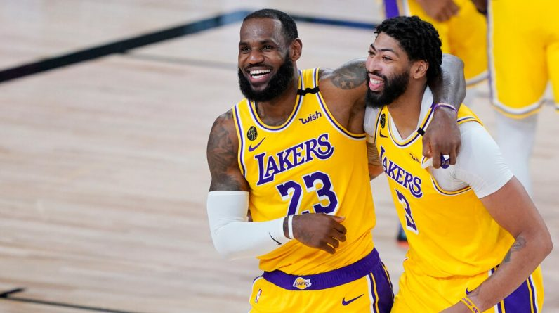 LeBron James and Anthony Davis Lakers sign up for a brighter future
