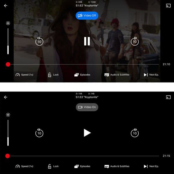 "Screenshot of the process ""Audio"" Tested by Netflix"