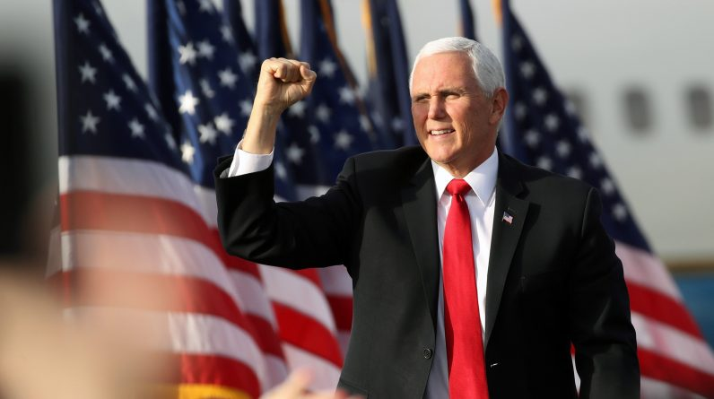 Pence ignores chants of four more years at Georgia rally as he distances himself from president