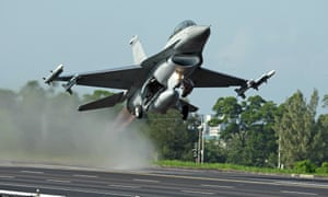 Taiwan relies heavily on the United States for this F-16 fighter jet-like defense.