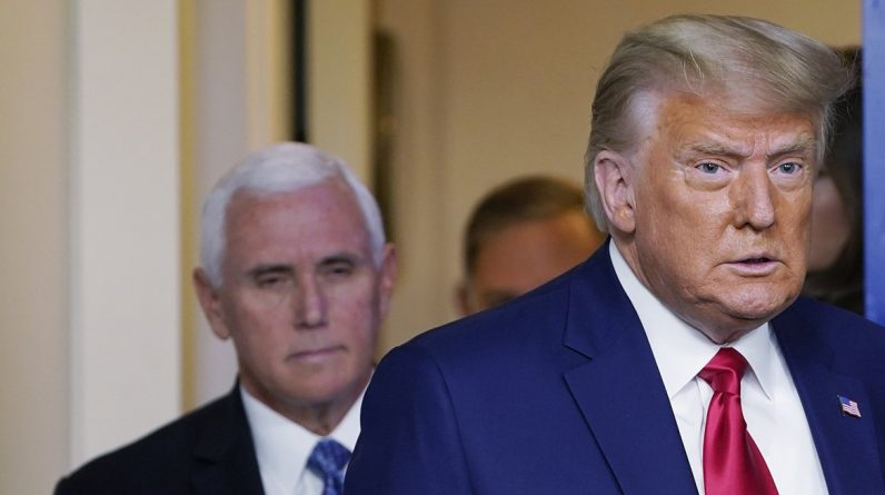 "Pence ""I have no right to overturn the election results"" ... eventually split with Trump"