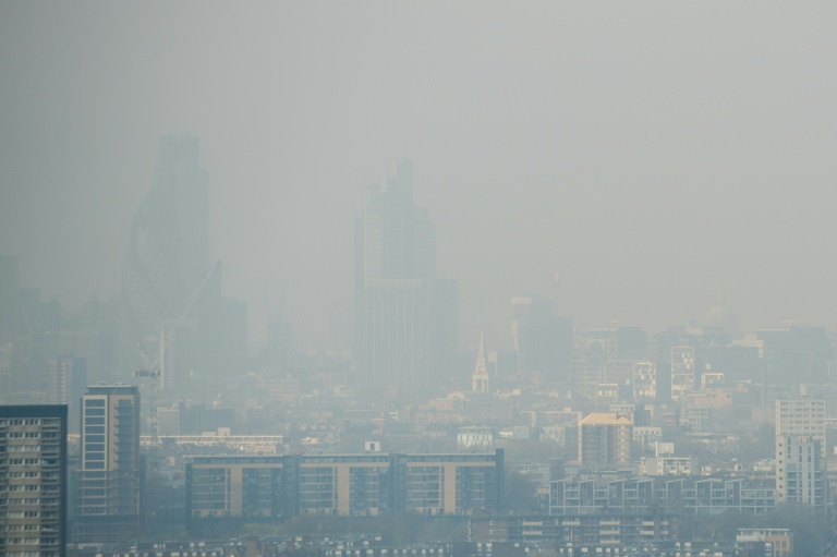 City of London on the day of severe pollution in April 2014 (AFP / Archives - LEON NEAL)