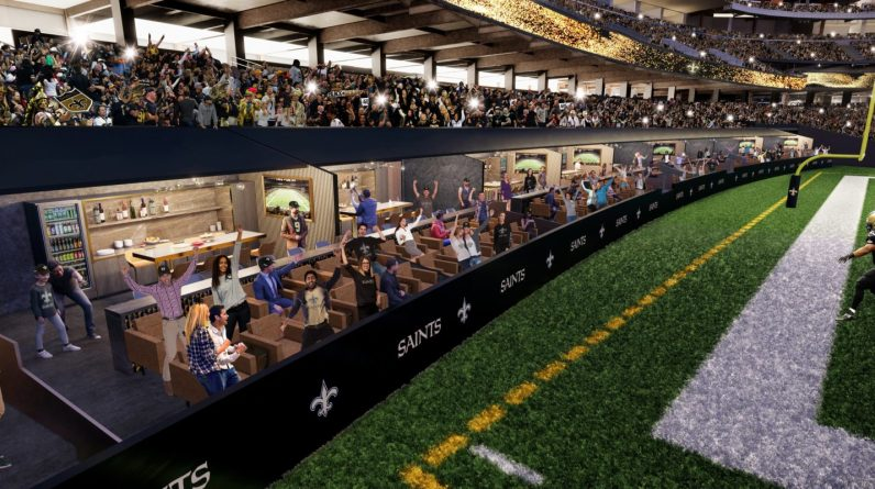 NFL - Field Side Boxes for New Orleans Saints at Mercedes Benz Super Dome
