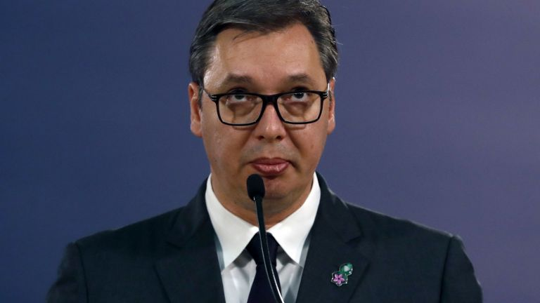 Convicted of insulting Serbian president