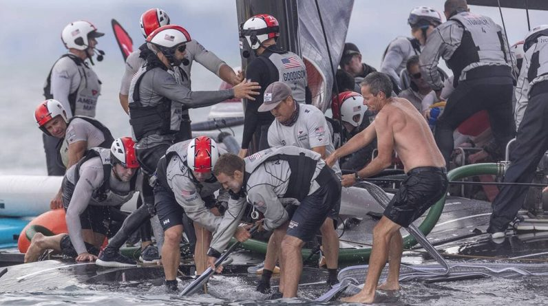 Cup of America.  US AC 75 sinks in Auckland (story + photos + damage + video)
