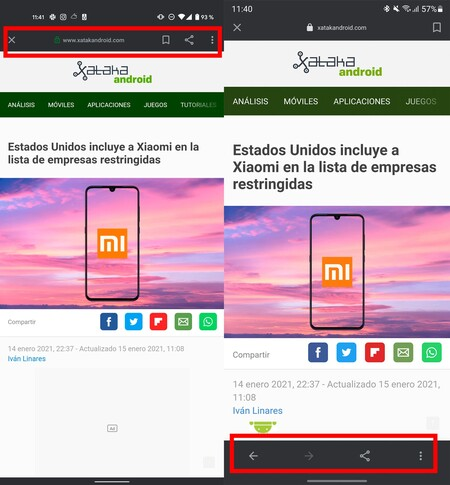 Google integrated browser