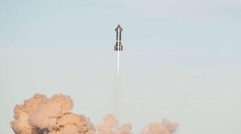 Vol de démonstration du prototype SN8 en décembre 2020. © SpaceX