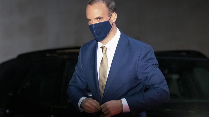 Le chef de la diplomatie britannique, Dominic Raab.